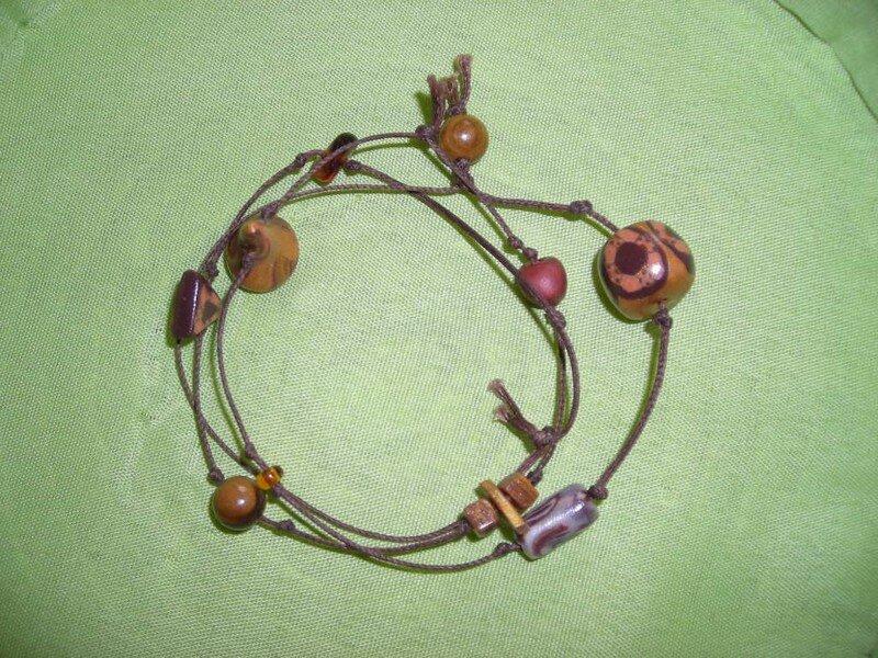 bracelet noeud marron
