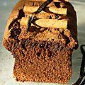 Cake chocolat noir et aux épices