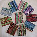 ATC créées (Cartes textiles)