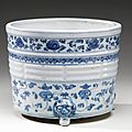 A blue and white censer. ming dynasty, 16th-17th century