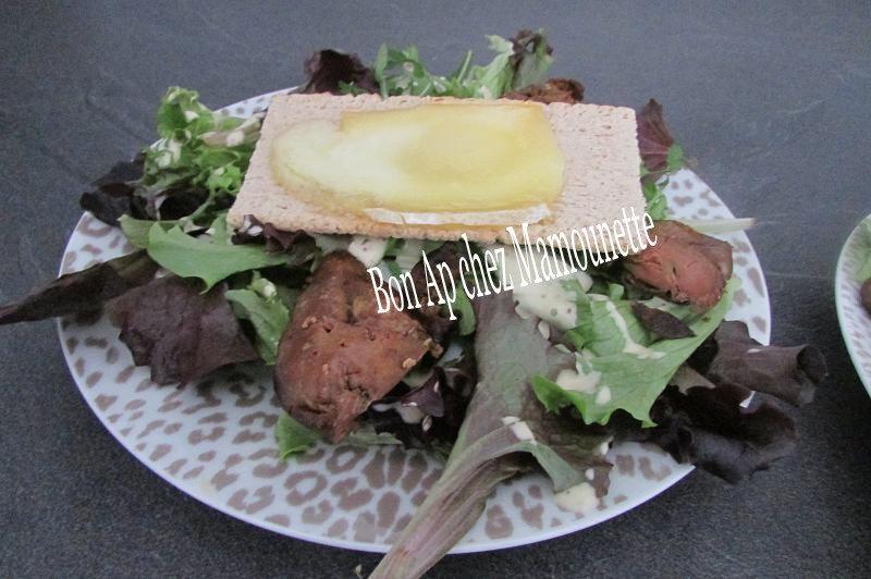Salade de foie de poulet st Nectaire fondant 007-