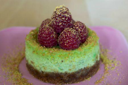 Cheesecake pistasche framboise