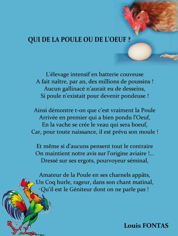 Qui De La Poule Ou De Loeuf Cercle Poetique Sainte Victoire