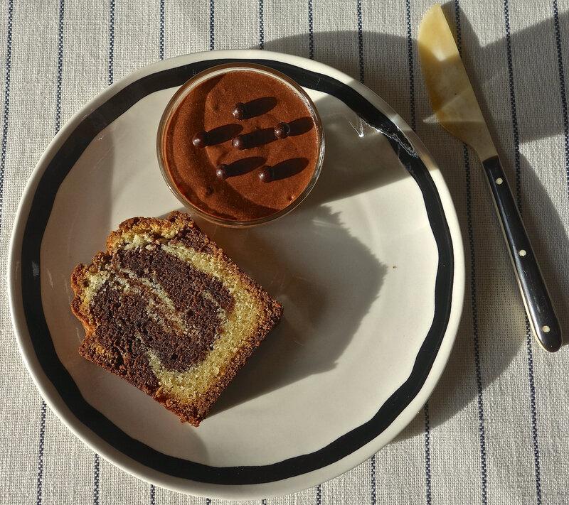 marbré vanille/chocolat - mousse au chocolat noir de C.F.