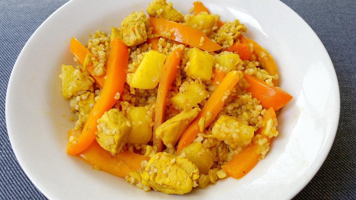 Boulgour au poulet et à l'ananas