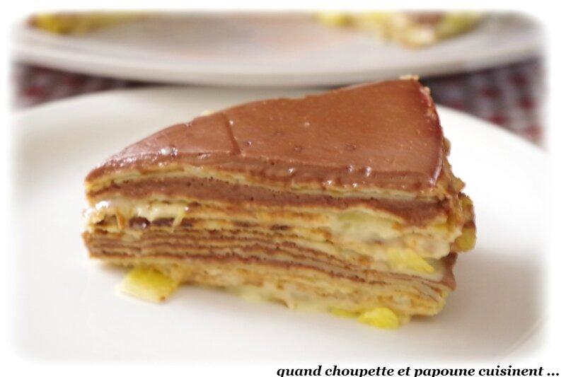 gâteau de crêpes ananas-chocolat-7194