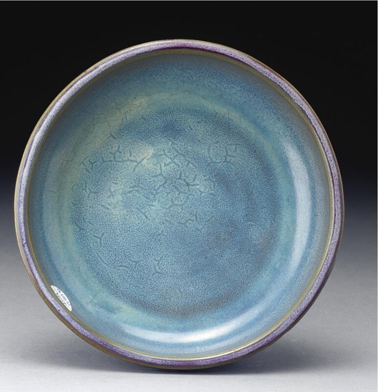 A superb 'jun' purple-splashed narcissus bowl, Early Ming dynasty (2)