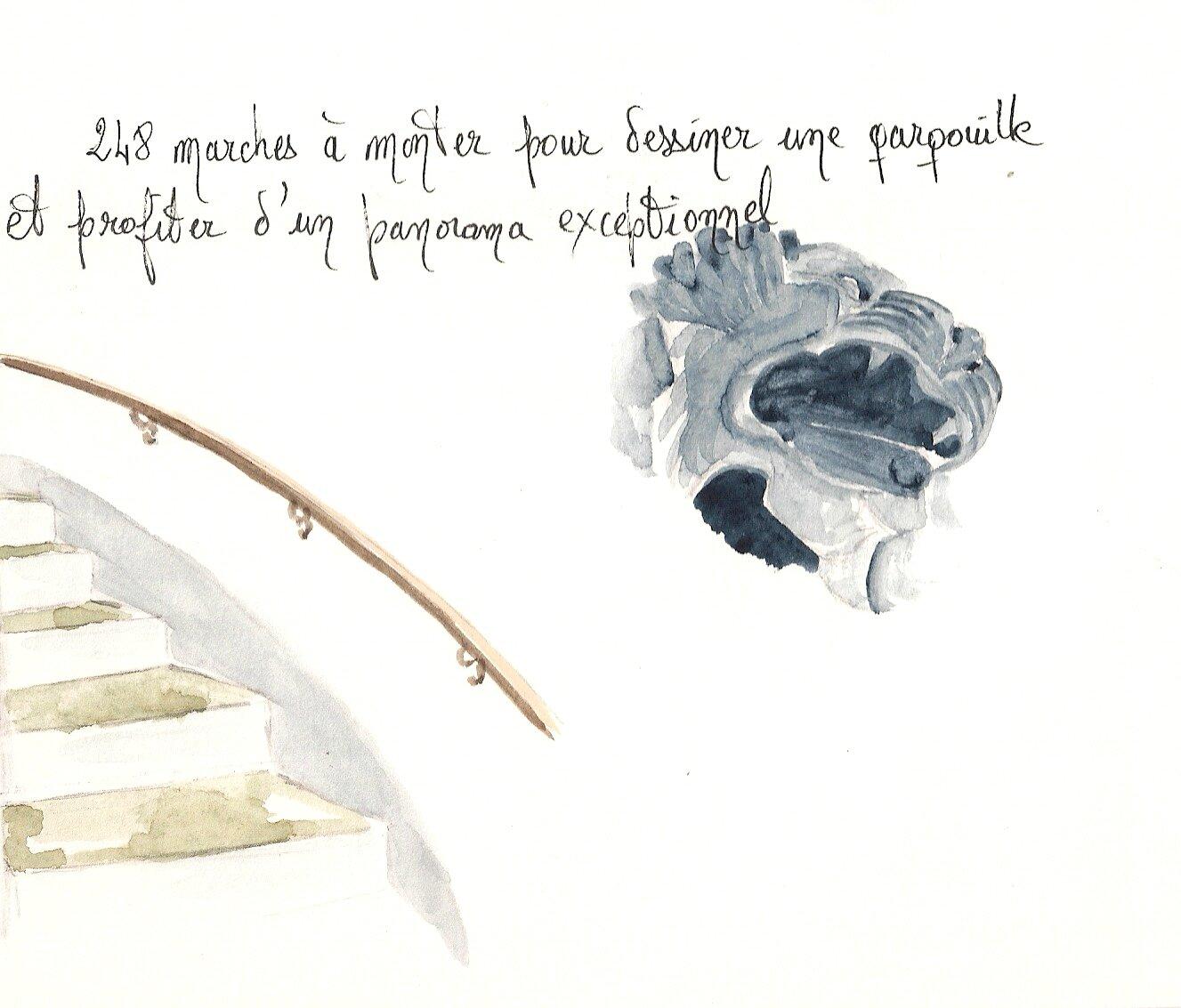 Biarritz : le phare, Escalier et Gargouille