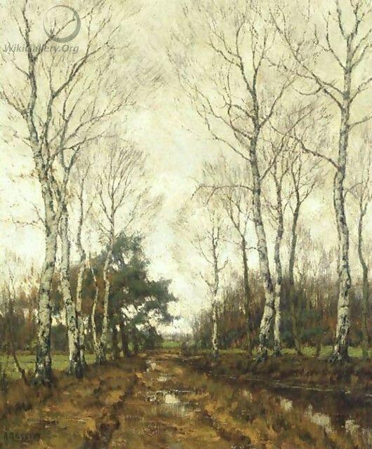 arnold marc Gorter_Birches-in-autumn