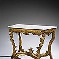 Console en bois sculpté et doré. travail probablement vénitien, du xviiie siècle