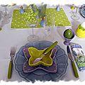 table de Pâques à pois