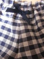 Culotte BIANCA en coton vichy marine - Noeud marine (3)
