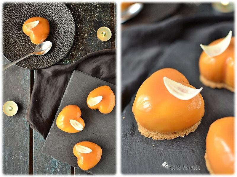 Petits coeurs caramel 1