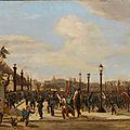 Didier et Guiaud, ovation à la stratue de la ville de strasbourg (1872)