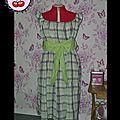 Robe BabyDoll carreaux vert&blanc (commande)