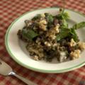 Salade de lentilles vertes aux épinards et tomates séchées, sans blé, sans lait