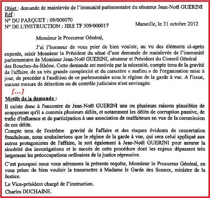 modele de lettre circonstanciée La lettre du juge Duchaine, la rage de Guérini contre la presse  modele de lettre circonstanciée