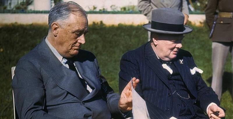 Roosevelt et Churchill