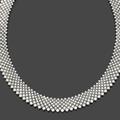 Collier ruban souple et dessinant un tissu d'or gris orné de 7 rangs de diamants ronds en chute