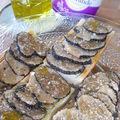 Truffe blanche d'été à la croque au sel