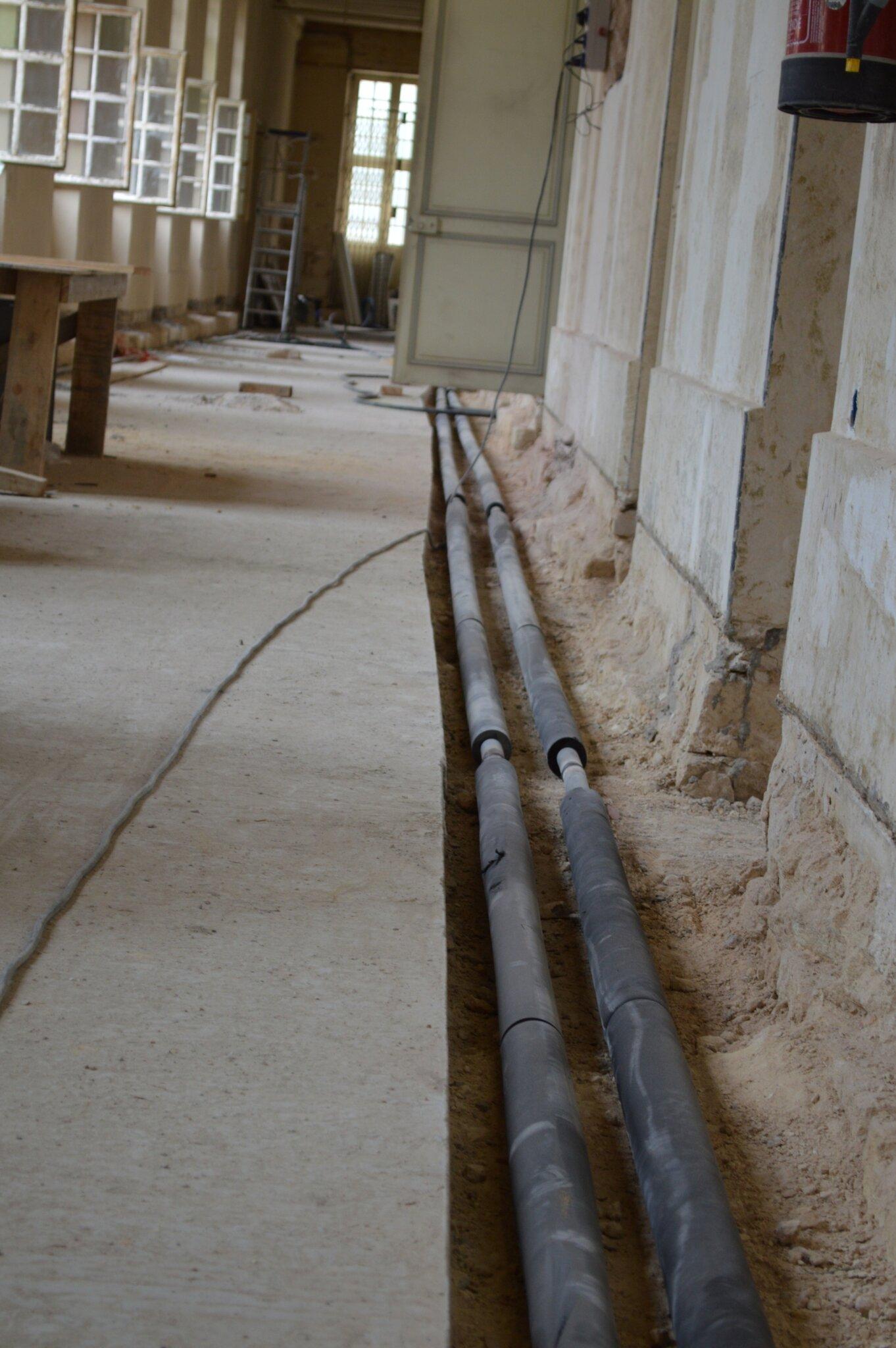 Avis Chauffage Au Sol Electrique chauffage au sol et gaines électriques - rénovation du musée