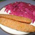Salade de chou rouge au vinaigre de framboises