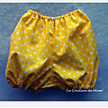 Premiers bloomers bébé 3 mois