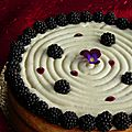 Tarte coco cassis mures