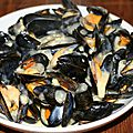 Moules de normandie au camembert de normandie