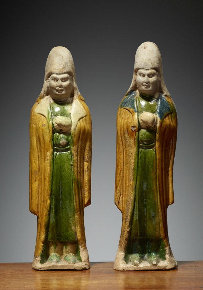 Attendants, Chine, Dynastie des Tang (618 – 907), 7°-8°siècle