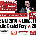 Meeting du front de gauche le 12 mai à longueau avec jacky hénin