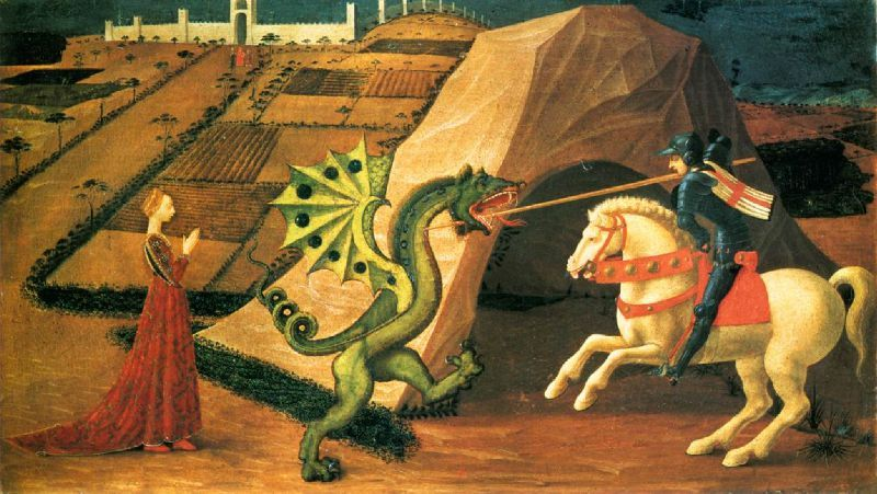 Saint_George_and_the_Dragon_by_Paolo_Uccello 1458_1460 version de Paris