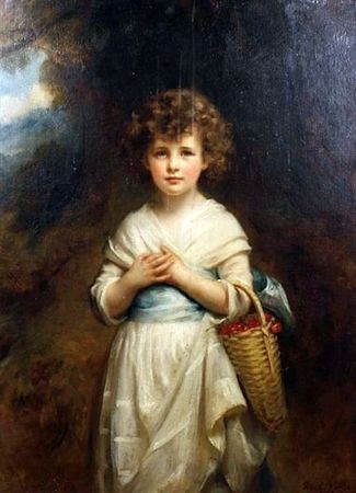 Lemon_Waller_Mary_moira_goff_holding_a_basket_of_cherries