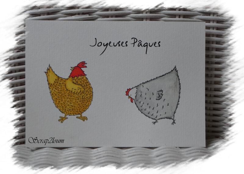 PÂQUES poules 1