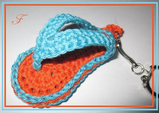 tong crochet porte cle