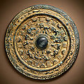 A rare gilded bronze mirror, Late Eastern Han-Three Kingdoms period, late 2nd-3rd century BC