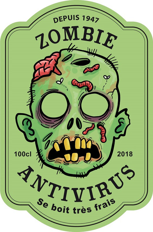 label zombie antivirus antidote virus