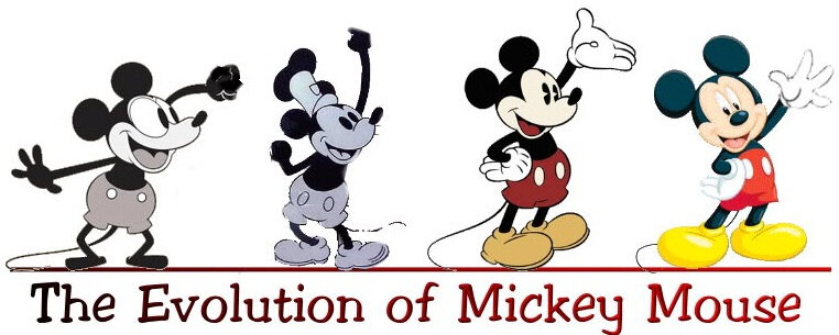 90 ans mickey evolution