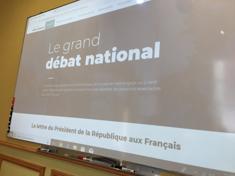 Grand Débat National_point-presse_Avranches_février_2019