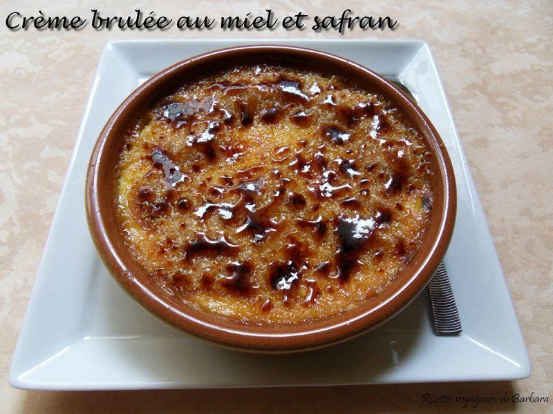 crème brulée au miel et safran