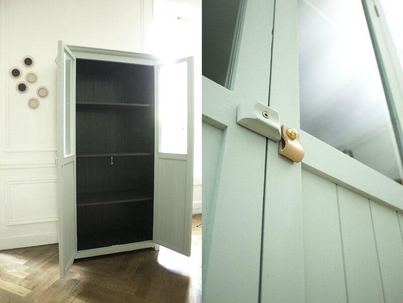 armoire vitrée chambre enfant bleue TRENDY LITTLE 4