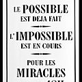 humour possible impossible miracle