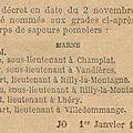 1909 02 novembre : gustave mitouart lieutenant de pompiers