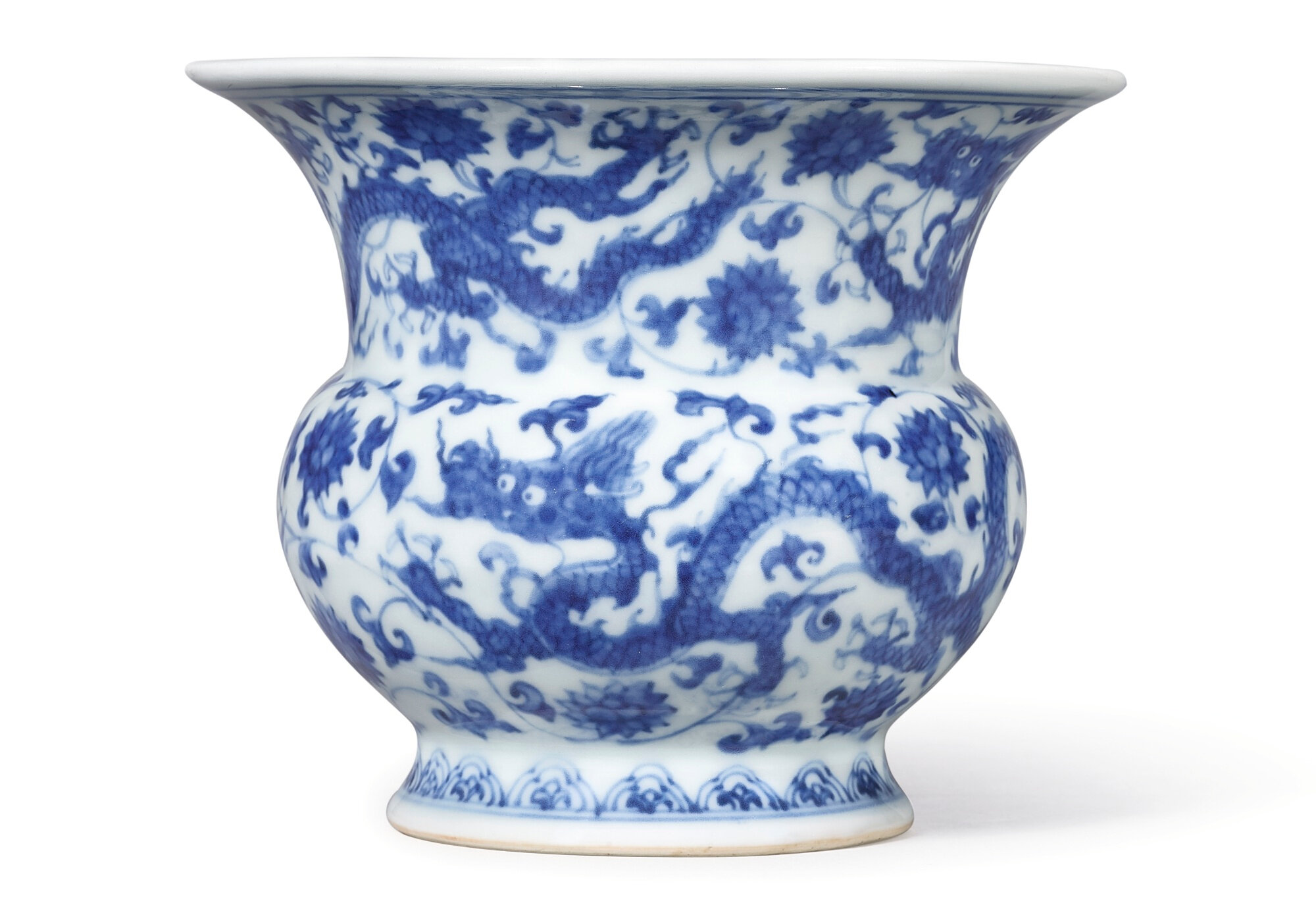 A Rare Blue and White 'Dragon' Zhadou, Mark and period of Zhengde (1506-1521)