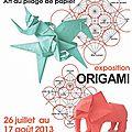 s-affiche exposition Origami Tetsuya GOTANI au musee historique de papier a Ambert 2013
