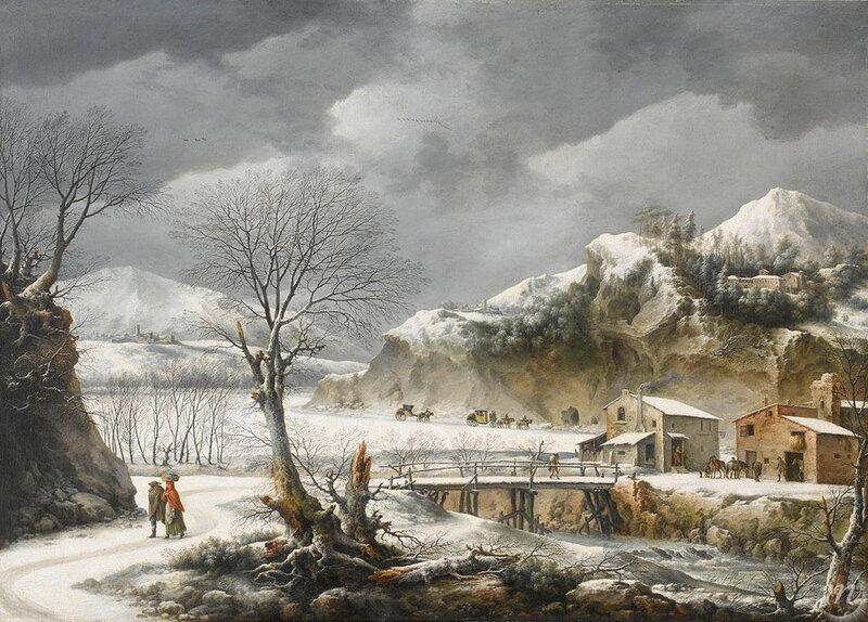 Paysage-sous-la-neige palais des beaux arts de LILLE