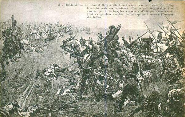 Gardette, le général margueritte blessé à mort sur le plateau de Floing (1889)