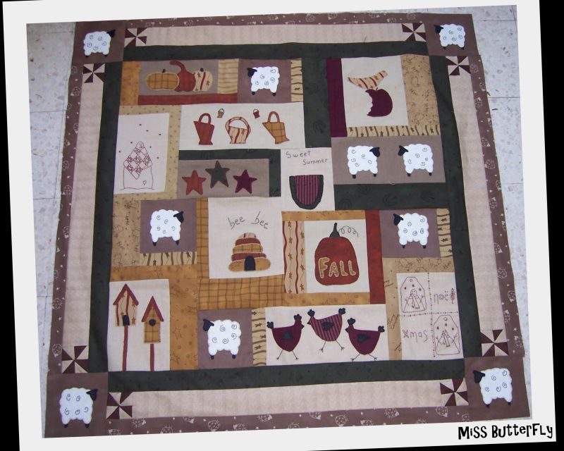 BOM Marie et son country quilt -LE TOP