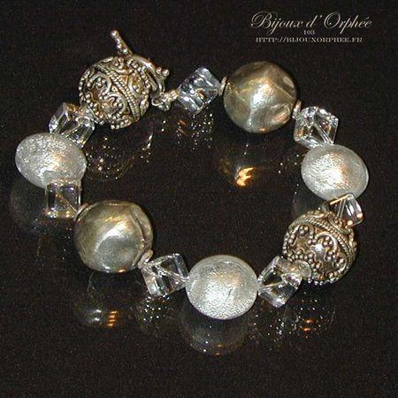 creation bijoux bracelet fantaisie argent