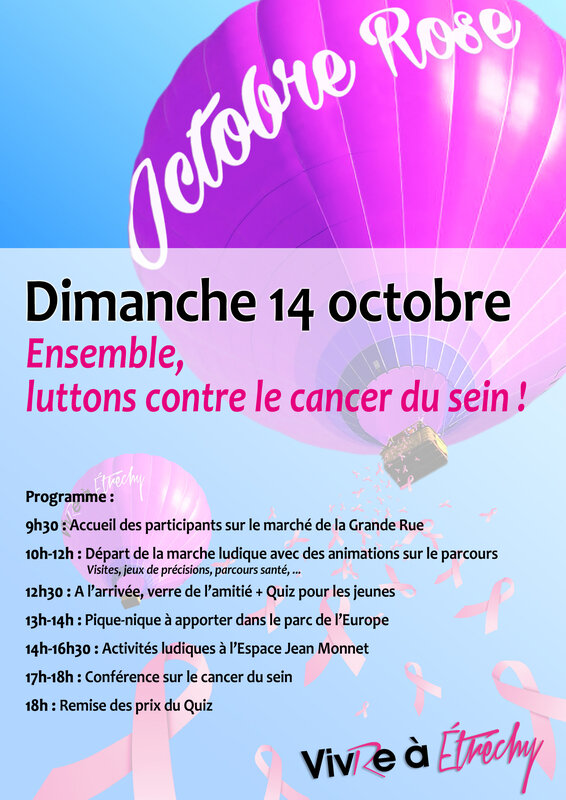 programme octobre rose